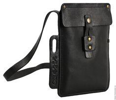Купить Сумка-планшет Штурман - черный, Кожаная сумка, сумка из натуральной кожи