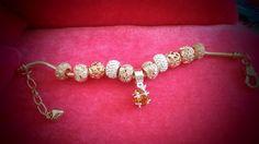 Bracelet charms cristal de Swarovski plaqué or