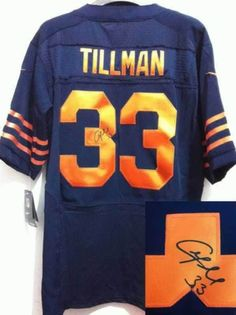 2c37256b3 ... new zealand navy blue elite jersey mens nike nfl chicago bears 33  charles tillman blue with
