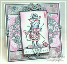 Newest Curiosity stamps from SCACD, colored with Copics by Suzanne J Dean of Scrap Bitz