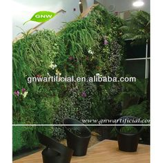 Beautiful GNW GLW046 Cheap Green Grass Wall Wholesale Artificial Plants For Living  Room Decoration