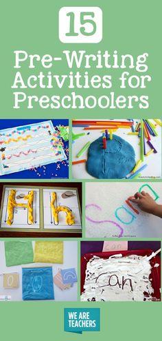 Pre-Writing Activities for Preschoolers - WeAreTeachers