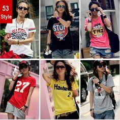 New 2014 Women tops  and shirts cartridge print T -shirt Korean fashion slim short sleeve summer  top US $6.45