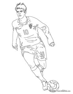 Soccer Players Coloring Pages Kaka Playing Soccer Sports Coloring Pages Football Coloring Pages Football Drawing