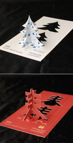krakatua card in 20 Creative Business Cards that have Alternate Uses | Muito massa esse pop-up