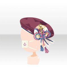 アクセサリ/バンダナ系 夢見るマリンベレー帽眼帯付き 赤
