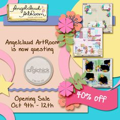 Angelclaud Artroom is guesting at The Digichick! 40% off on all products!!