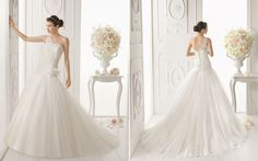 Aire Barcelona: Aire 2014 Bridal Collection. Aire Barcelona presents a sumptuous smorgasbord of beautiful, feminine wedding dresses for their 2014 bridal