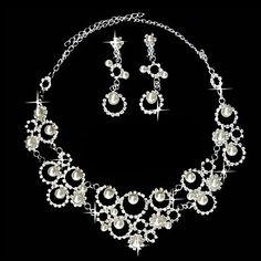 a8ce02b96c Elegant Pearl Timeless Ladies Necklace and Earrings Jewelry Set (45 cm)
