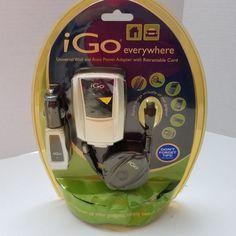i Go Everywhere Universal Wall Auto Power Adapter Retractable Cord 2006 New  #iGo