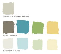 Preschool Paint Color Palette -created for a client who runs a lovely preschool in New York :)