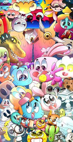 Amazing world of gumball - Cartoon Cartoon Wallpaper Iphone, Cute Disney Wallpaper, Trendy Wallpaper, Cute Cartoon Wallpapers, Aesthetic Iphone Wallpaper, Galaxy Wallpaper, Wallpaper Quotes, Screen Wallpaper, Wallpaper Desktop