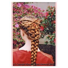 Braid: Mermaid braid and crisscross rope braids Fancy Hairstyles, Braided Hairstyles, Updo Hairstyle, Braided Updo, Wedding Hairstyles, Renaissance Hairstyles, Red Hair Accessories, Natural Hair Styles, Long Hair Styles