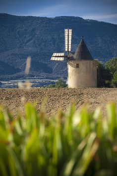 Windmill in Luberon, Provence. # France