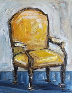 Chair Still Life OIl Painting by DevinePaintings on Etsy, $88.00
