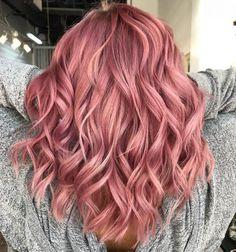 Bold Hair Color, Hair Dye Colors, Ombre Hair Color, Brunette Color, Cabelo Rose Gold, Pastel Pink Hair, Rose Pink Hair, Pink Hair Dye, Short Pastel Hair