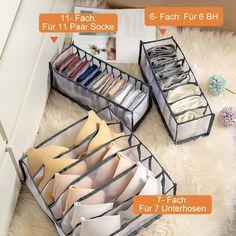 Sock Storage, Bra Storage, Underwear Storage, Diy Storage Boxes, Closet Storage, Storage Ideas, Teen Bedroom Designs, Wardrobe Closet, Storage Compartments