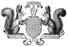 Bunny Squirrel Supporters.  Majestic and Noble Bunny Squirrels...370px-Complete_Guide_to_Heraldry_Fig668.png (370×255)