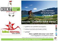 #bikefestival a #rivadelgarda in #trentino. #galletto #take#away per gli amici #bikers sul #lago di #garda