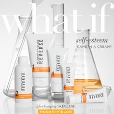 When you use the right skincare, it shows. Think: glowing with confidence. REVERSE Brightening Regimen helps brighten skin and diminishes the look of wrinkles for a younger-looking you. #LifeChangingSkincare