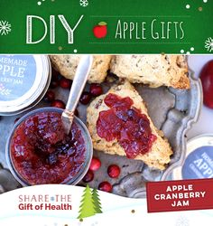 Give a gift from the heart–and kitchen– with DIY Apple- Cranberry Jam. #DIYAppleGifts