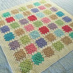 Hand made crocheted baby blanket