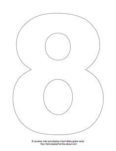 Dibujos de números para colorear: Número 8 para colorear
