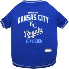 Pets First MLB Kansas Royals Pet Tee Shirt, Multicolor