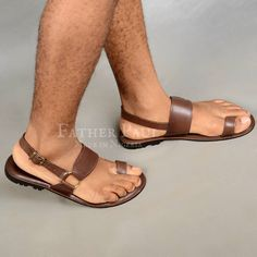 3b8b6117513 Brown  Rinne  Sandals by Father Paul (Made in Nigeria) ABOUT Upper