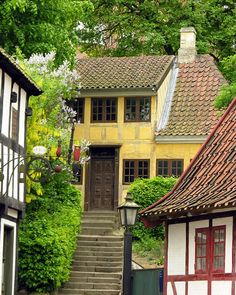 Den Gamle By - The Old Town  open-air museum. Arhus, Denmark