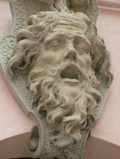 Zeughaus courtyard - dying face