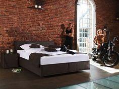 Das Boxspringbett Kubus überzeugt durch: Top-Preis ✓ Top-Marke ✓ moderenes, kubisches Design ✓ Stoff ✓ Kunstleder ✓ Leder ✓