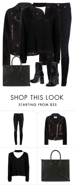 """""""Untitled #2943"""" by elenaday ❤ liked on Polyvore featuring Closed, Acne Studios, Boohoo, Yves Saint Laurent and MSGM"""