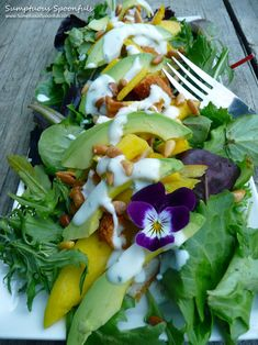 This was delish tonight!!  Chicken Mango Avocado Salad
