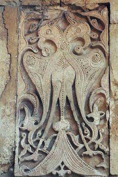 Selçuklu motifleri - double headed eagle important Turkish symbol