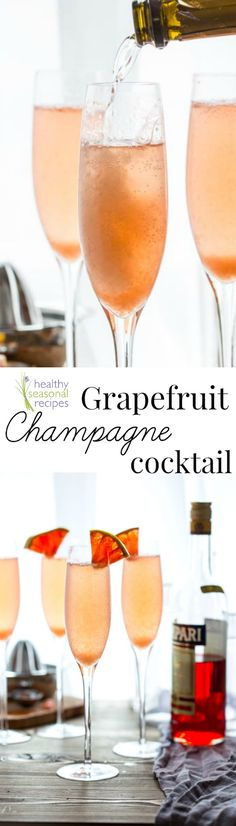 Blog post at Healthy Seasonal Recipes : These simple and bitter sweet grapefruit champagne cocktail are breeze to make and they star my favorite liquor, Campari. They are perfect t[..]