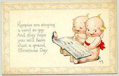 kewpie  | Kewpie.. Kewpies are singing .a carol so gay... wob, slight crease ...