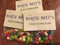 Harry Potter party – DIY Bertie Bott's Every Flavor Beans – Wabi Sabi Crafts(Baking Sale Ideas) Baby Harry Potter, Birthday Harry Potter, Harry Potter Motto Party, Harry Potter Fiesta, Classe Harry Potter, Harry Potter Halloween Party, Harry Potter Classroom, Theme Harry Potter, Harry Potter Baby Shower