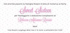 My sweet sixteen invitation.