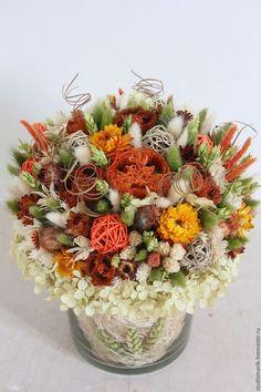 Купить или заказать Композиция из сухоцветов в интернет-магазине на Ярмарке Мастеров. Композиция из сухоцветов…