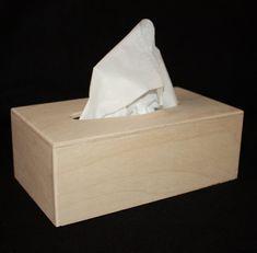 Rectangular Wood Tissue Box