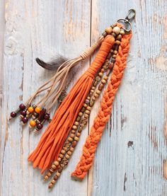 Long tassel, zipper charm, boho tassel, keychain tassels, tassel charm, bag tassel charm, zipper pull, handbag charms, girlfriend gift, hippie tassel Welcome to our store and thank you for stopping by! This tassel charm is handmade and one of a kind, like all the pieces from our shop.