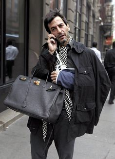 Marc Jacobs rocking a Berkin and a sling.