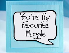 Funny Love you Card. Harry Potter Card and Magnet. Funny Valentine Card.
