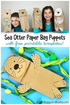 Quick and Easy Sea Otter Paper Bag Puppet Craft for Kids Sea Otter Paper Bag Puppet Craft for kIds with free sea otter and starfish templates! The post Quick and Easy Sea Otter Paper Bag Puppet Craft for Kids appeared first on Paper Diy. Animal Crafts For Kids, Crafts For Kids To Make, Art For Kids, Kid Art, Preschool Crafts, Fun Crafts, Preschool Christmas, Christmas Crafts, Rock Crafts