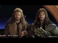 "Aidan Turner & Dean O'Gorman Rock & Roll Dwarves Extended ""fili!, *turns to kili* ""oh sh**"""