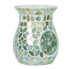 Aroma Accessories Aqua Pearl Mosaic Wax Melt Burner 14 cm White 11 x 11 x 14 cm