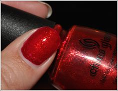 China Glaze Wizard of Ohh Ahz Collection in Ruby Pumps. My favorite red to wear at Christmas!
