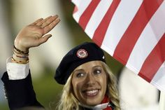 Mariel Zagunis carried the flag for Team USA. Zagunis is a sabre fencer who won gold medals at both the 2004 and 2008 Summer Olympics. She is only the second American to ever win a gold medal in Olympic fencing. Nbc Olympics, 2012 Summer Olympics, Ralph Lauren Olympics, London Olympics Opening Ceremony, Olympic Fencing, Nbc Tv, London Summer, London Today, Olympic Team