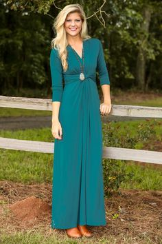 The Story of Us Maxi Dress-Teal - New Today | The Red Dress Boutique
